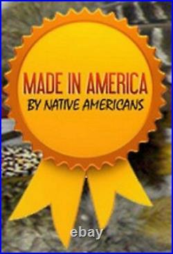 11 Native American Algonquin Made Beaded Fringed Sheath & Knife SET YOUR CHOICE