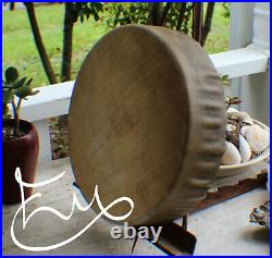 12x 3 Native American Buffalo hand Drum Cherokee made William Lattie Cert Auth