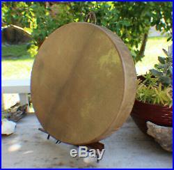 16 Native American Buffalo hand Drum Cherokee made William Lattie Cert of Auth