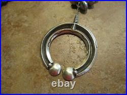 24 Contemporary AARON TOADLENA Navajo Hand Made Sterling NAJA Bead Necklace
