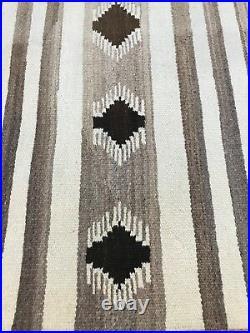 2'5 x 4'10 Native American Navajo Flat Weave Oriental Rug Kilim Hand Made