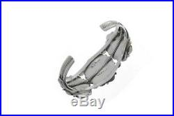 3Stone Arizona RARE Bisbee Turquoise Cuff Navajo Hand Made Bracelet Sterling