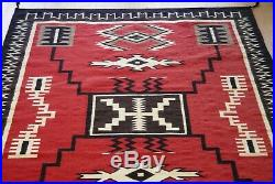 6' x 9' Native American Navajo Southwest Storm Pattern Hand Made 100% Wool Rug