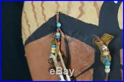 88# Vintage 70/80s LAKOTA War SHIELD, Made Of BISON Back SACRED RAVEN