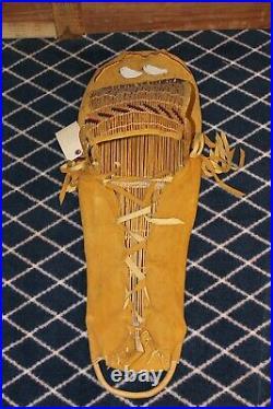 ANTIQUE Native American Paiute Cradleboard DEER HIDE Beads Made Yosemite Valley