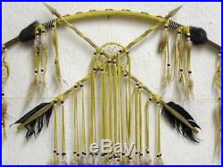 AUTHENTIC Native American Tohono Oodham Made Bow with Dreamcatchers 47