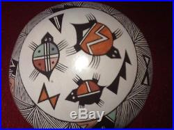 Acoma seed pot vase pottery traditional made by J. Lewis excellent condition