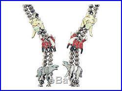 Andrea Lonjose, Necklace, Multi-Stone Inlay, Animals, Zuni Made