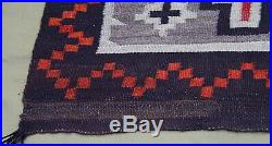 Antique Authentic Native American Indian Navajo Hand Made Wool Rug 3'4x5'4