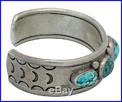 Antique Collection, Bracelet, Persian Turquoise, Navajo Made, Circa 1960s, 7 in