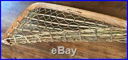 Antique Lantry & Delormier Native American Made Wooden Lacrosse Stick 1910c