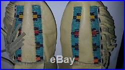 Antique Native American Hand Made Beaded Moccasins
