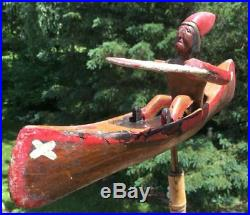 Antique Primitive Maine made Folk Art Whirligig Folk Art Indian Native American
