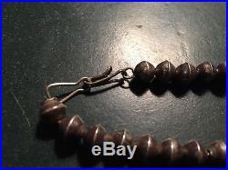 Antique / Vintage NAVAJO Sterling Silver Bench Beads Necklace Bracelet hand made