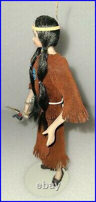 Artist Made Native American Porcelain Dollhouse Doll 112 Scale