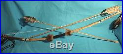 Authentic Handmade Native American Made 2 Bows & 3 Arrows/ 3 Arrows In Quiver