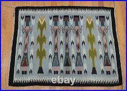 Authentic Native American Navajo Yei Hand Made Vintage Wool Rug 3'1 x 2'5