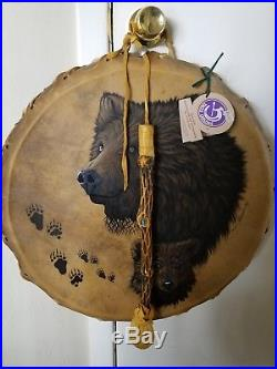 Authentic Native American Tom Tom Drum made by Taos Drums