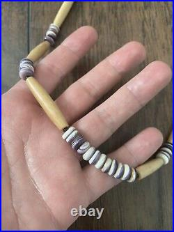 Authentic Wampum shell necklace native american made cherokee regalia real