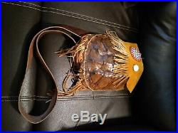 Awesome Vintage Native American Hand Made Snapping Turtle Bag Regalia Super