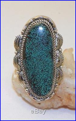 Beautifulnavajo Madejoe Tsosterling Silvergenuine Kingman Turquoisering