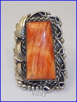 Beautifulnavajo Madejoe Tsosterling Silverspiny Oyster Shellring