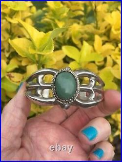 BEGAY NAVAJO Native American made Green Turquoise/JasperSANDCAST CUFF/Bracelet