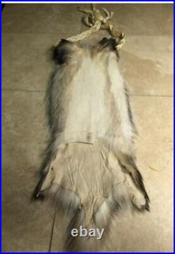 Badger Fur Bag native american made for pipe flutes possibles Rendezvous