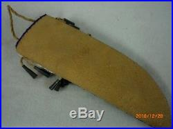 Beaded Native American Knife Sheath, Old Style Gros Ventre Indian Made bks3bj