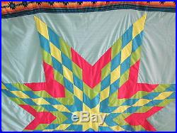 Beautiful Star Blanket, North American Native American Tradition, Hand Made Warm