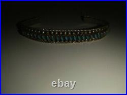 Beautiful Zuni Made Turquoise and sterling silver bracelet