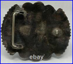 Begay Navajo Silver Turquoise Buckle Petit Point Hand Made by Wilford Begay