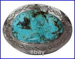 Ben Begay, Sterling Silver Box, Kingman Turquoise, 1780 Carats, Navajo Made, 3.5