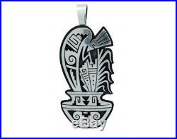 Berra Tawahongya, Pendant, Sterling Silver, Overlay, Kokopelli, Hopi Made, 2.1