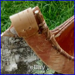 Birch Bark Canoe 48 Vintage Handcrafted Real Birch Bark Native American Made