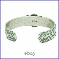 Bo Reeves, Bracelet, Apache Blue Turquoise, Sterling Silver, Navajo Made, 6 5/8