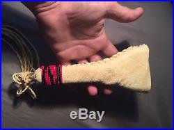 Braintan Beaded fan handle Native American made for pow wow regalia dance fan