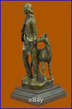Bronze Native American Chief Spiritually Real Hand Made Figurine Sale Sculpture