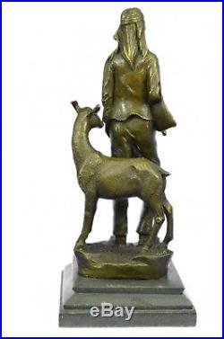 Bronze Sculpture Figurine 12x5 Native American Chief Spiritually Real Hand Made