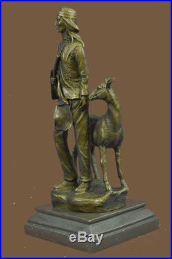 Bronze Sculpture Statue Native American Chief Spiritually Real Hand Made Figurin