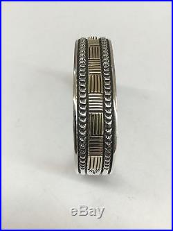 Bruce Morgan NativeAmerican Navajo Hand Made 14k Gold Over Silver Cuff Bracelet
