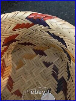 CHOCTAW Native American BASKET. DOUBLE WEAVE. WELL MADE PEARL RIVER RESERVATION