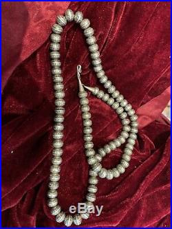 COLLECTORS 30 Navajo Pearls Stamped. Hand Made. Uniform Oval beads. Vintage