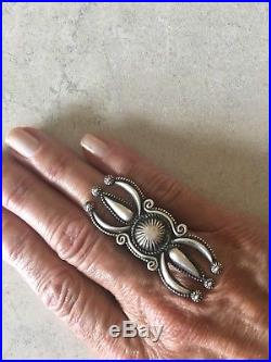 Calvin Martinez Huge Ketoh Concho Ring Custom Made Navajo