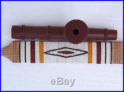 Catlinite Pipe Native American with Puzzle Stem new made modern Argus Dowdy