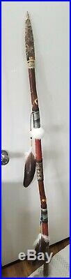 Cherokee Made Native American Handcrafted Lance/Spear 60 in