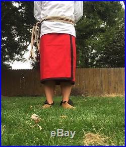 Cherokee Wrap Skirt Wool native american made regalia pow wow reenactor