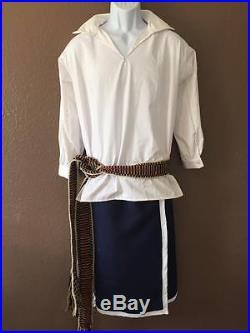 Cherokee Wrap Skirt Wool native american made regalia pow wow reenactor BLUE