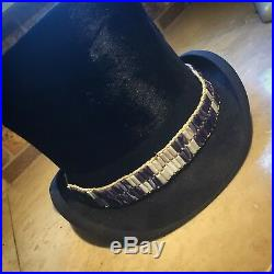 Clay Wampum band for hat Native American made rendezvous Cherokee steampunk