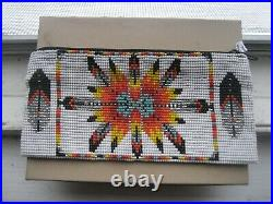Collectible-Unique-Native American-Hand Made- Beaded Purse 4 1/2 x 6